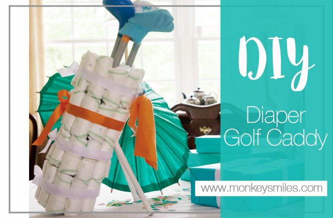 DIY Golf Caddy Diaper Cake