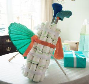 DIY Diaper Golf Caddy