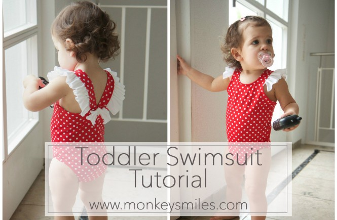 Toddler Swimsuit Tutorial monkeysmiles