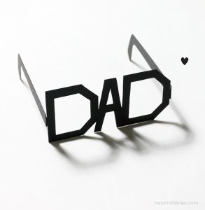Fathers day DIY glasses